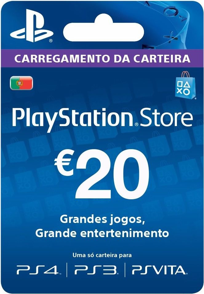 Cartão PSN 20 EUR - Playstation Network Card - Portugal