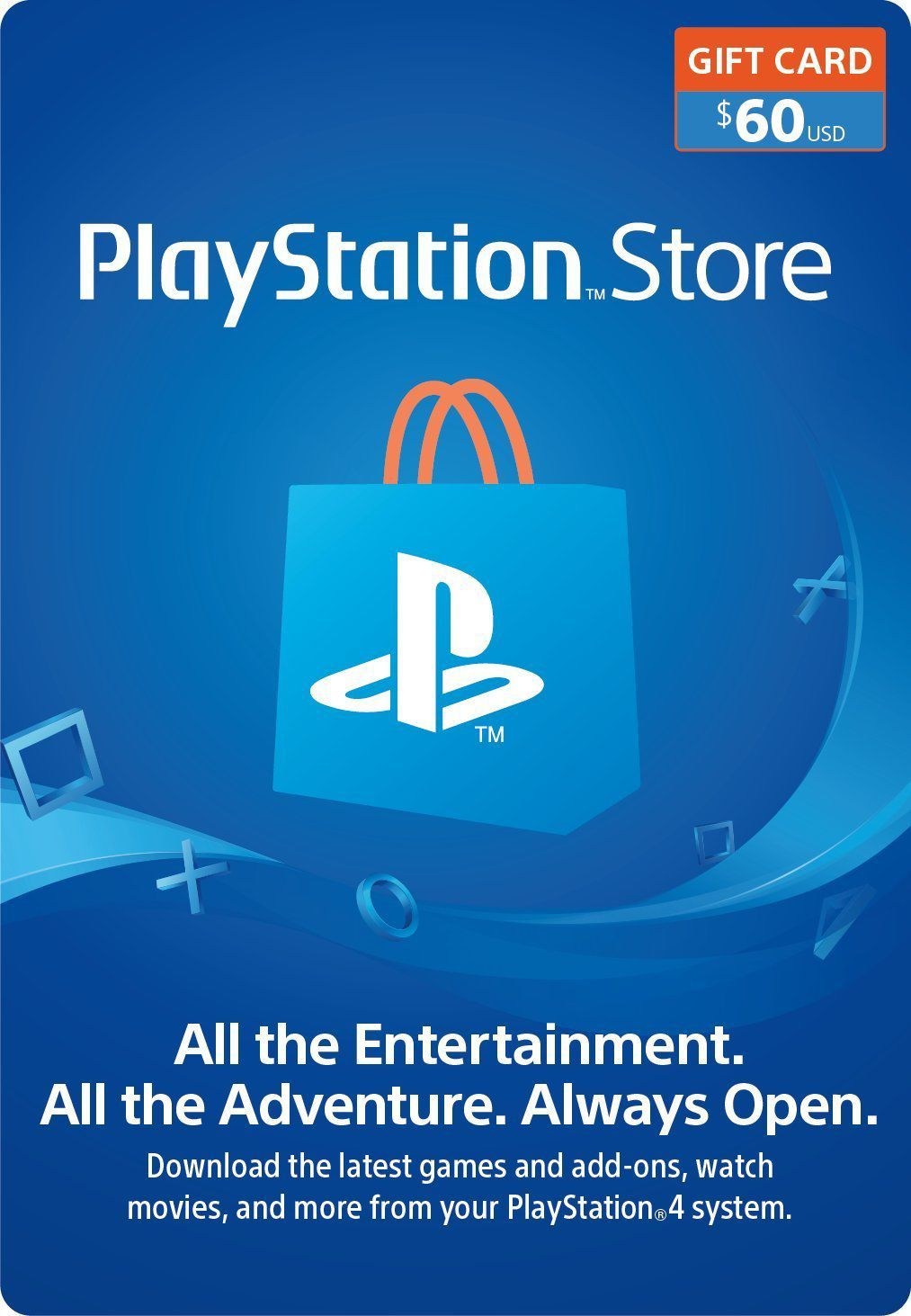 Cartão PSN $60 Dólares Playstation Network - USA
