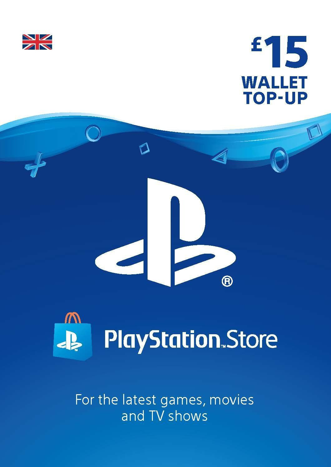 Cartão PSN £15 - Playstation Network Card - UK