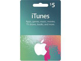 iTunes Gift Card $5 - USA