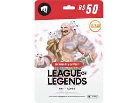 Cartão League of Legends R$ 50 - 2800 Riot Points