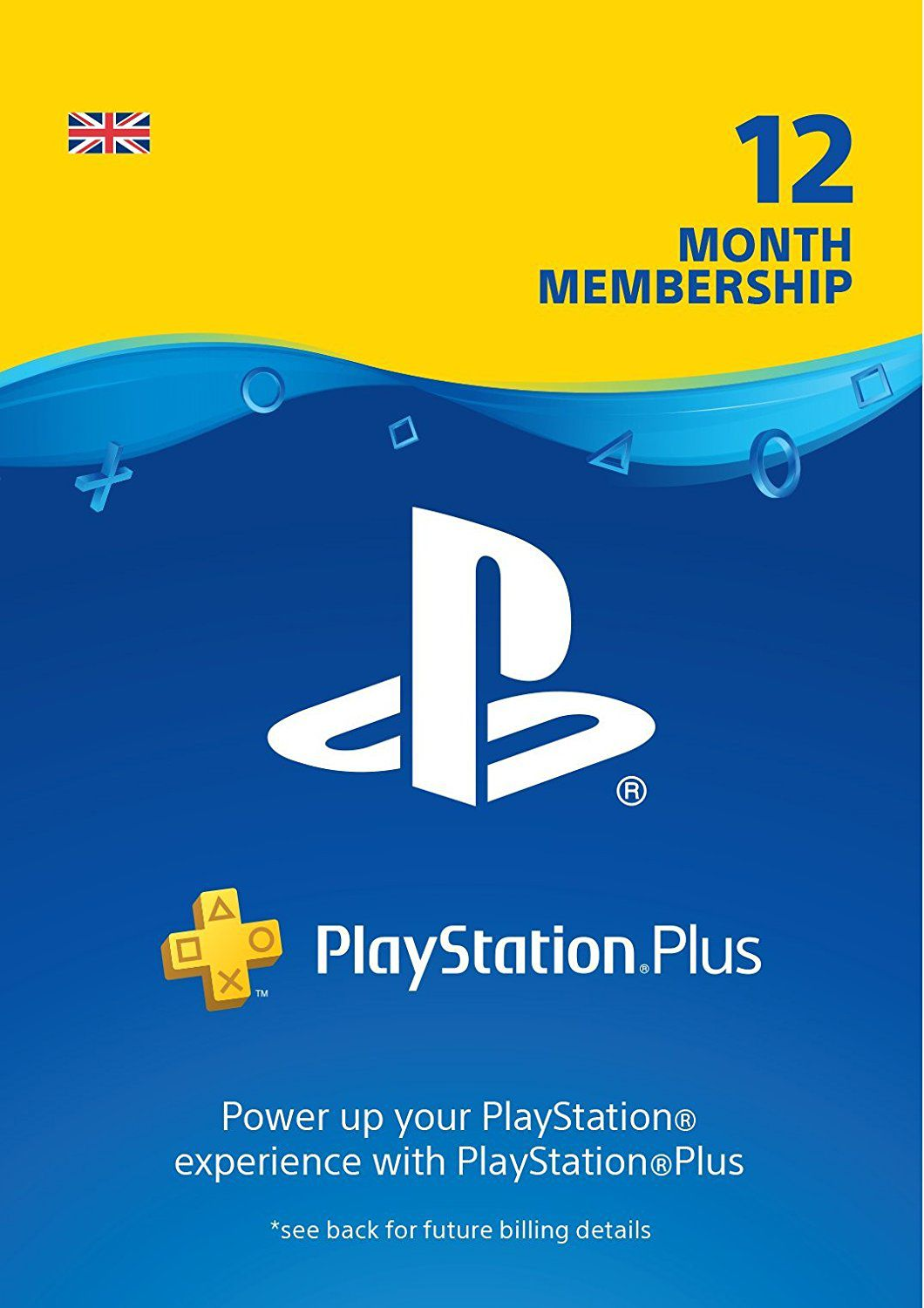Cartão Playstation Plus 12 Meses (1 Ano) PSN UK