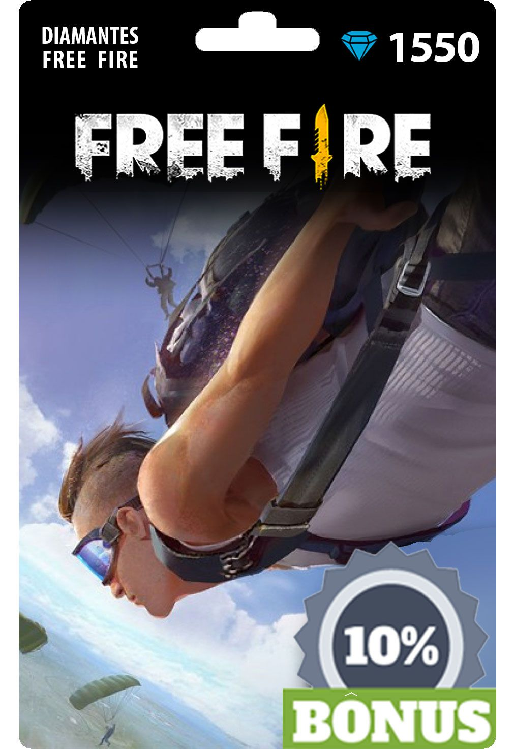 Free Fire: 1.550 Diamantes