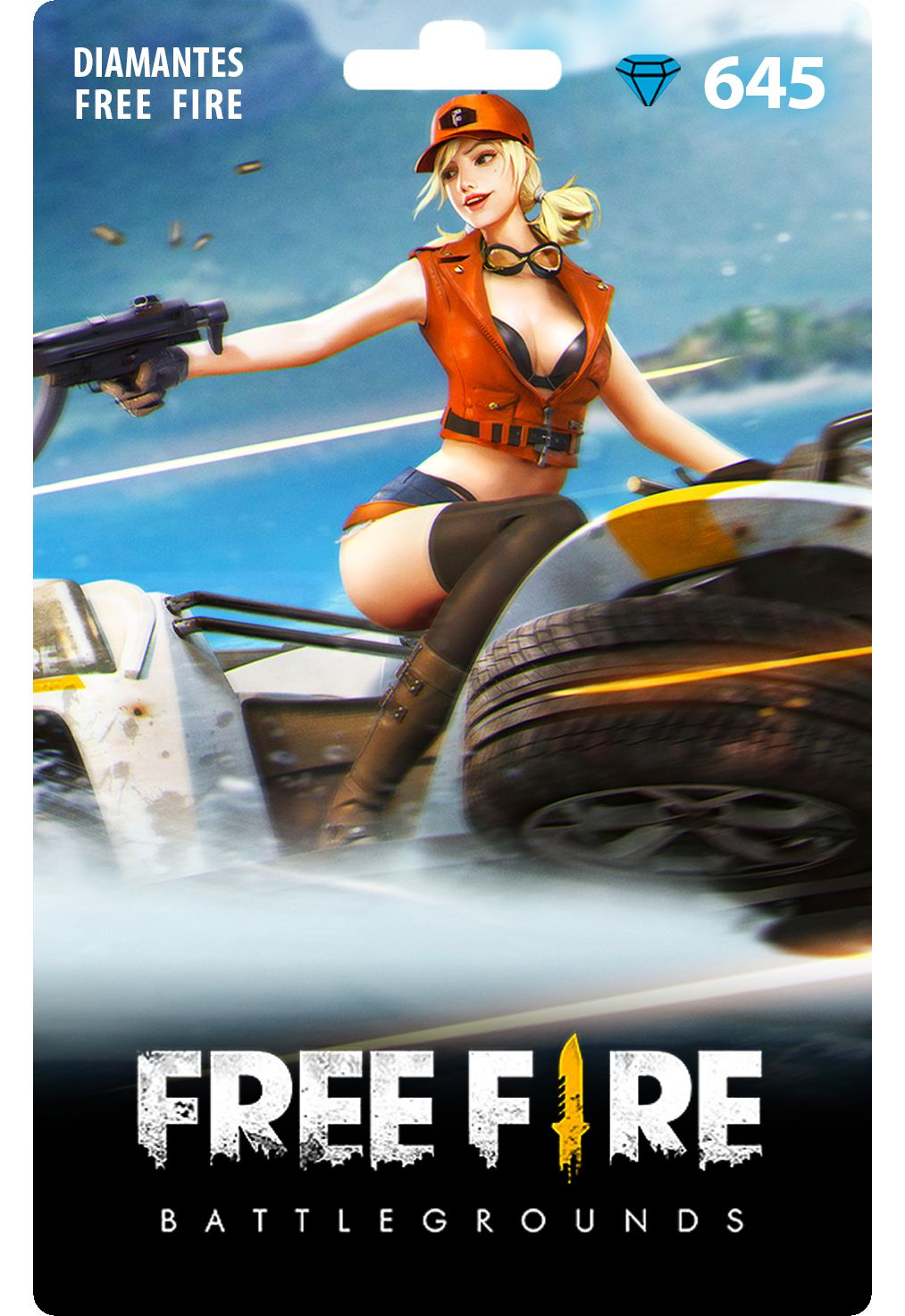 Free Fire: 645 Diamantes [Recarga]
