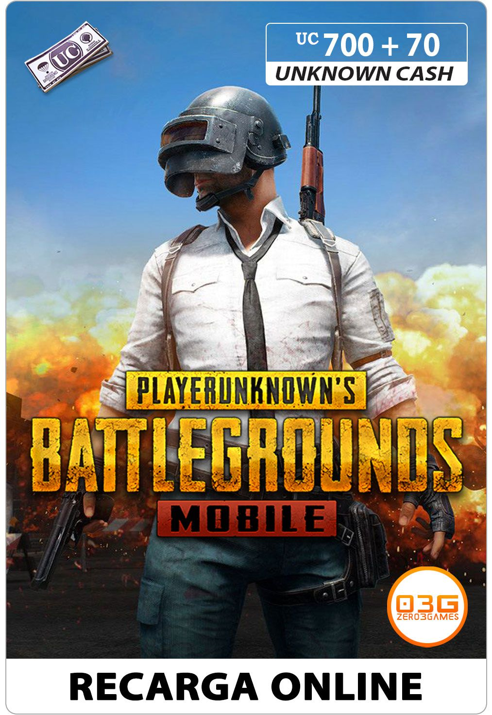 PUBG Mobile - Unknown Cash 700+70 UC
